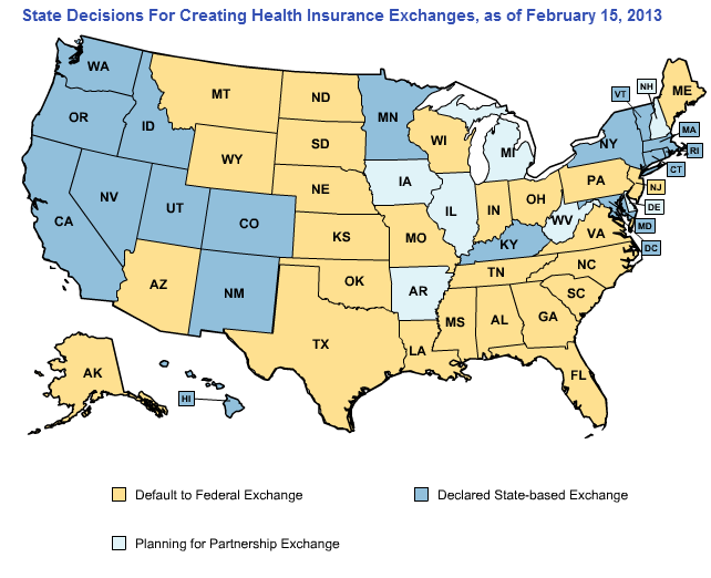 State by State Guide to Health Insurance Exchanges 2013