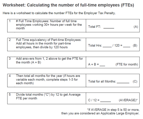 Worksheets Fte Calculation Worksheet faq does my small business have to provide health insurance worksheet