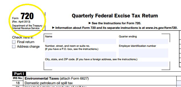 Revised Form 720 for HRAs