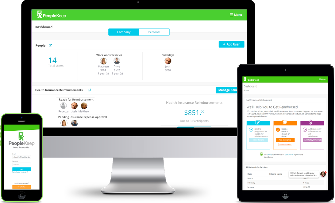 PeopleKeep Employee Benefits Platform Showcase
