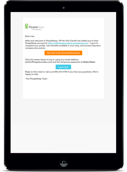 PeopleKeep Employee Benefits Automated Notifications